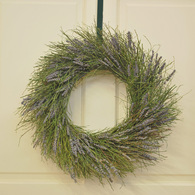 Winterbud and Lavender Spring Flower Wreath 18 in