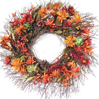 Red Oak Fall Front Door Wreath 20 Inches