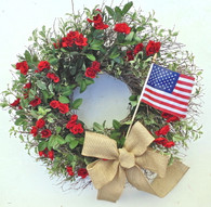 Liberty Rose Silk Door Wreath