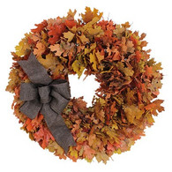 Natural Maple Harvest Autumn Wreath
