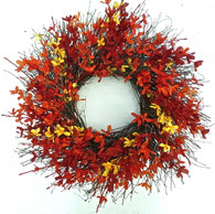 Fall Forsythia Outdoor Door Wreath