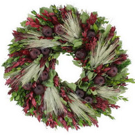 Pomegranate Accents Fall Floral Wreath