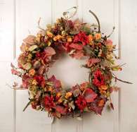 Nashua Fall Blossom Silk Door Wreath 22 inch