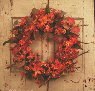 Sylva Fall Outdoor Silk Wreath 22 inch
