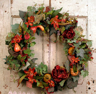 All Seasons Adirondack Silk Door Wreath 22 inch