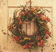 Abingdon Berry Silk Door Fall Wreath 18 in