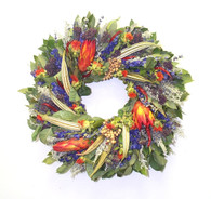 Belle Glade Decorative Floral Wreath 22 in