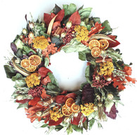Natures Fall Harvest Wreath 22 in
