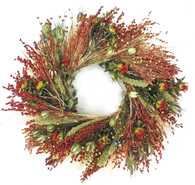 Nightingale Bird Feeder Outdoor Wreath 22 in