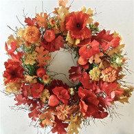 Poppyfield Fall Front Door Wreath 22 in