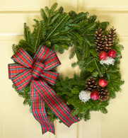 Austrian Holiday Fresh Christmas Wreath 23 inch