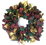 Gilded Leaf Decorative Seasonal Wreath
