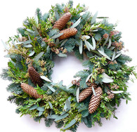 Annscroft Fresh Evergreen Christmas Wreath 22 in