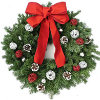 Westover Jingle Fresh Christmas Wreath 22 inch