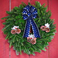 Proud To Be USA Patriotic Fresh Holiday Wreath 23 in