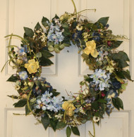Aftonshire Silk Spring Outdoor Wreath 22 in