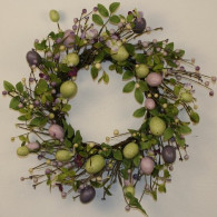 Hoppin' Silk Easter Egg Wreath 18 in