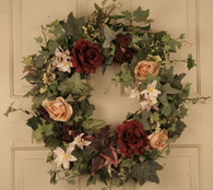 Rosemont Silk Front Door Wreath 22 in