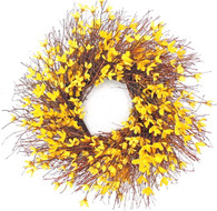 Yellow Forsythia Spring Front Door Wreath 22 in