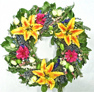 Aprilia Decorative Dried Flower Spring Wreath 22 in