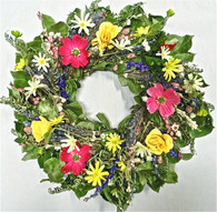 Glenmeade Dried Flower Spring Wreath 22 in