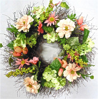 Peachmont Silk Front Door Wreath 20 in