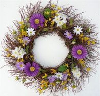 Sweet Serenity Spring Door Wreath 22 in
