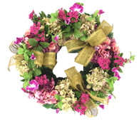 Birkdale Kalanchoe And Hydrangea Silk Front Door Wreath