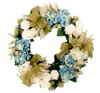 Pembroke Rose And Hydrangea Silk Spring Door Wreath