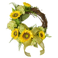 Whittier Sunflower Silk Spring Front Door Wreath