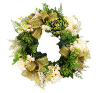 Astilbe Silk Seasonal Front Door Wreath