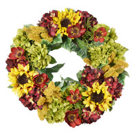 Alexandria Silk Fall Door Wreath 30 inch