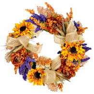 Devonfield Harvest Silk Fall Door Wreath