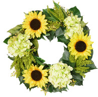 Laguna Sunflower Silk Front Door Wreath