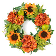Waverly Pear Silk Autumn Front Door Wreath