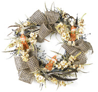 Scarecrow Harvest Silk Fall Front Door Wreath