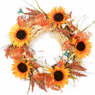Deerfield Harvest Silk Fall Door Wreath