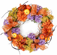 Westminster Pumpkin Harvest Silk Fall Door Wreath