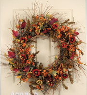 Dellbrook Silk Front Door Fall Wreath 22 in