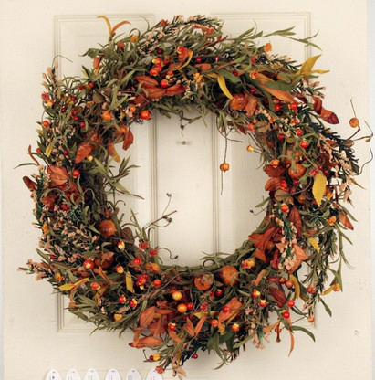 Arden berry silk autumn door wreath 22 in the wreath depot Fall autumn door wreaths