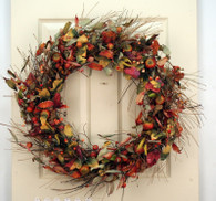 Atherton Berry Silk Fall Door Wreath 22 in