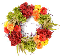 Cabuya Daisy Silk Flower Decorative Door Wreath