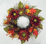 Dunbar Fall Silk Door Wreath 22 in