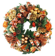 Bancroft Holiday Decorated Silk Elegant Christmas Door Wreath