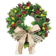 Snowbird Silk Harvest Christmas Door Wreath