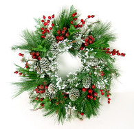 Valcourt Silk Artificial Christmas Holiday Door Wreath