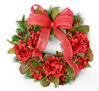 Belvidere Magnolia Silk Christmas Front Door Wreath