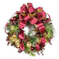 Richford Silk Artificial Christmas Door Wreath