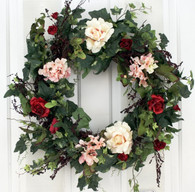 Airlie Silk Spring Outdoor Wreath 22 in