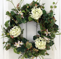 Cheshire Silk Spring Front Door Wreath 22 in